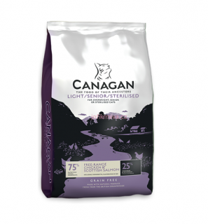 Canagan kočka light/senior/sterilised 4  kg